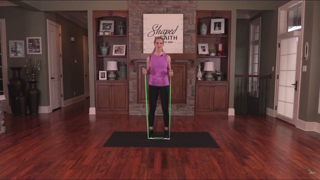 Shaped By Faith With Theresa Rowe Episode #24 Stretch Band Workout