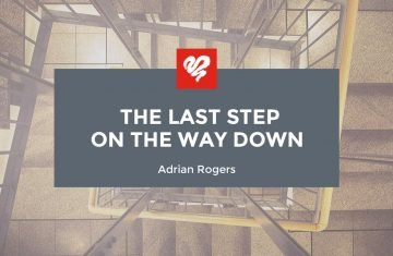 the last step on the way down