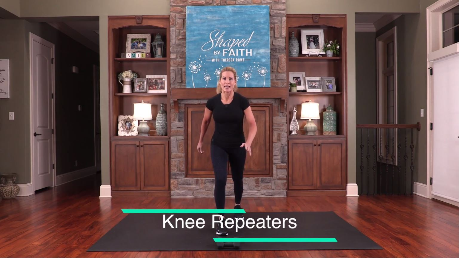 shaped by faith with theresa rowe – episode #42 cardio & abs workout