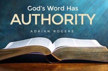 god's word has authority