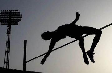 high jumper or pole vaulter